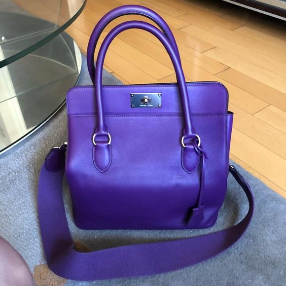 Hermes Handbags - Hermès Toolbox 26 in Ultra Violet